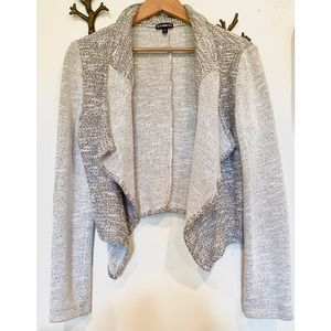 Express marled shawl cardigan jacket